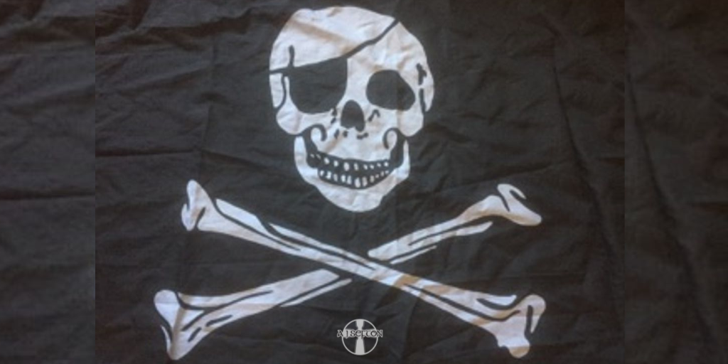 The Jolly Roger Flag of pirates